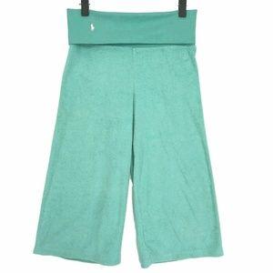 Ralph Lauren Terrycloth Culottes Small Blue Green